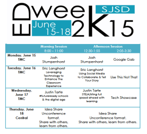 Ed Week Schedule