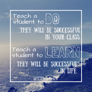Teach a student to