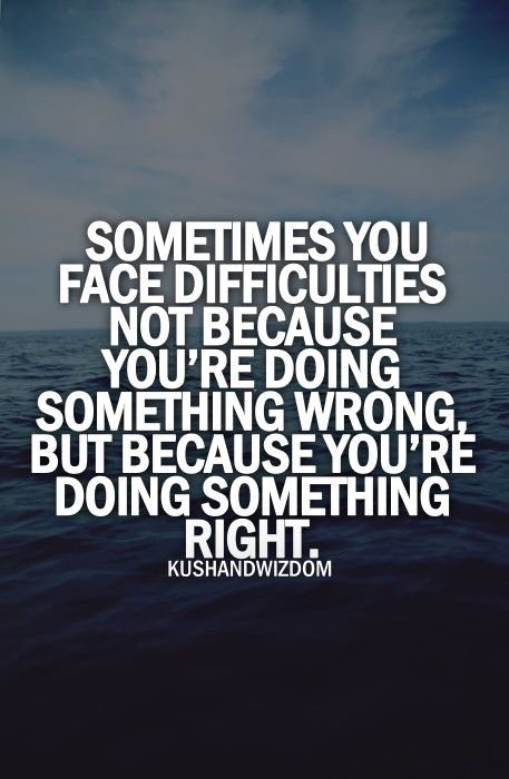 Difficulties Doing Something Right