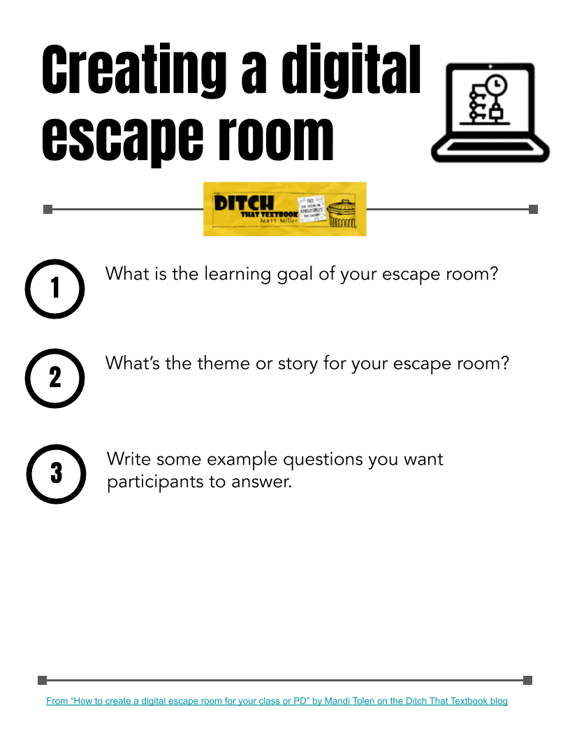 Matt's Creating a digital escape room template