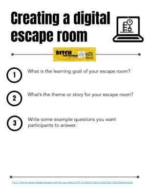 Matt's Creating a digital escape room template
